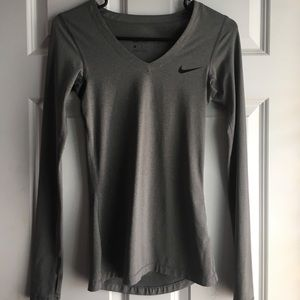 Nike Grey Dri-Fit Long Sleeve Top